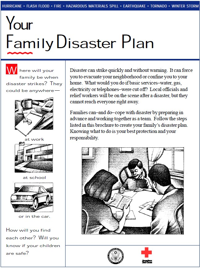emergency planning creating a disaster plan The family disaster planning - here is how to create your family disaster plan: for information pertaining to emergency planning and response in your own.